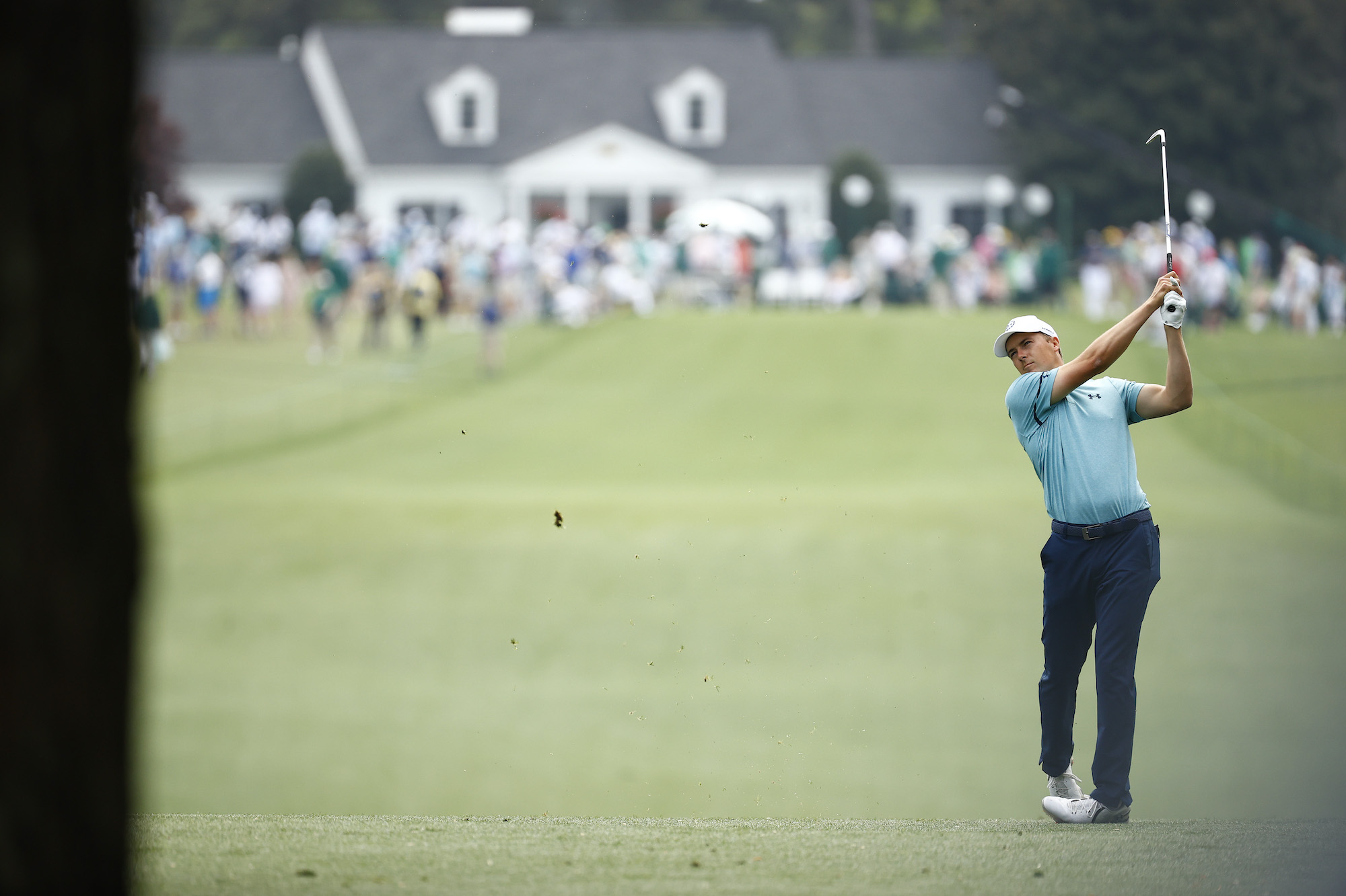 2021 Masters Tournament: Round 2 - Second Shot on the Opening Hole