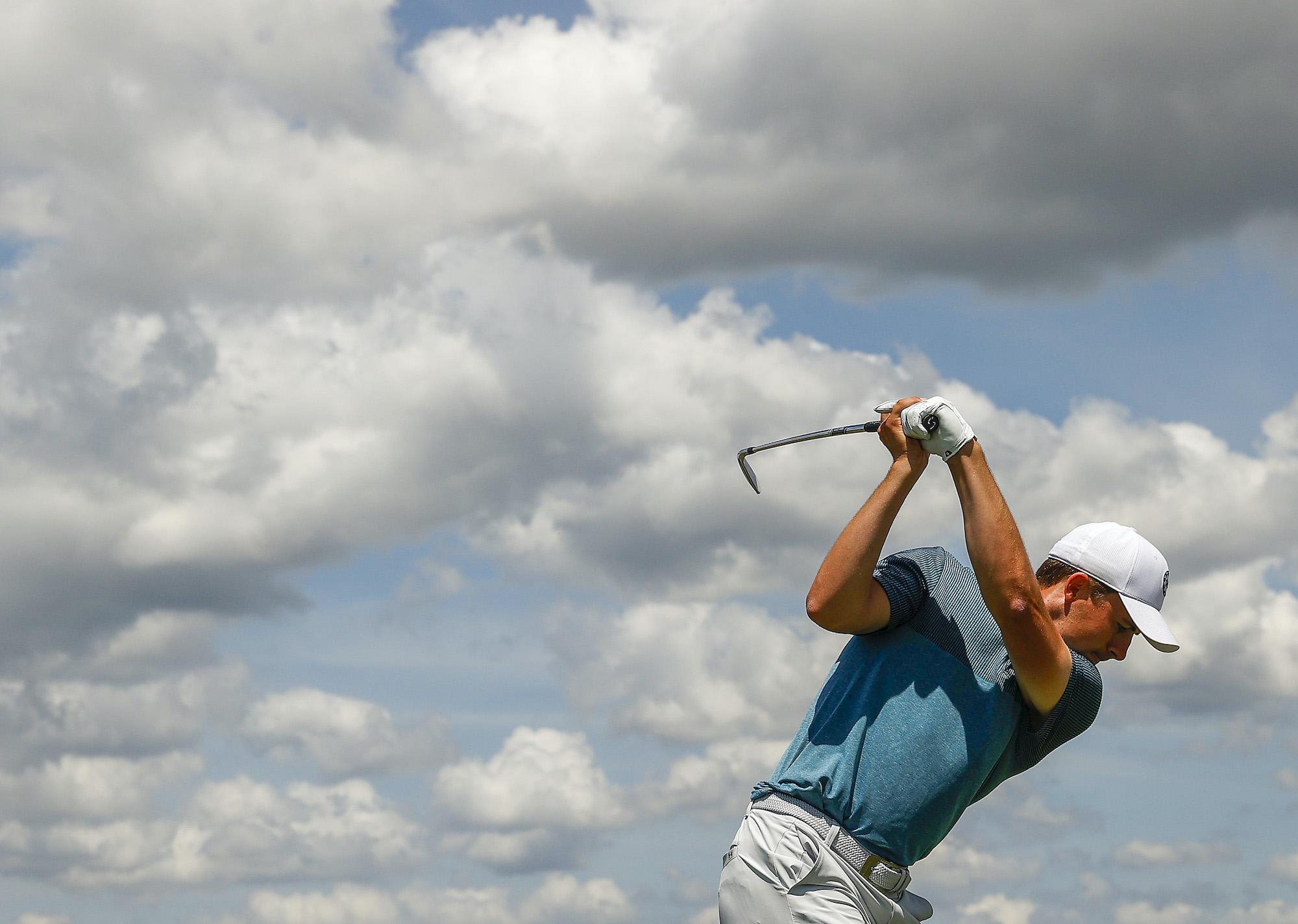 2021 PGA Championship: Round 2 - Jordan Plays His Shot from the No. 8 Tee