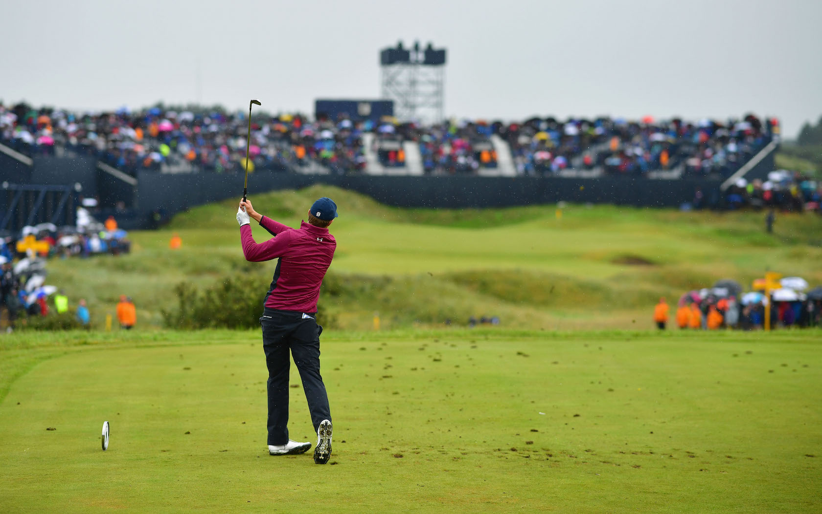 2017 Open Championship: Round 2 - 14th Hole Tee Shot