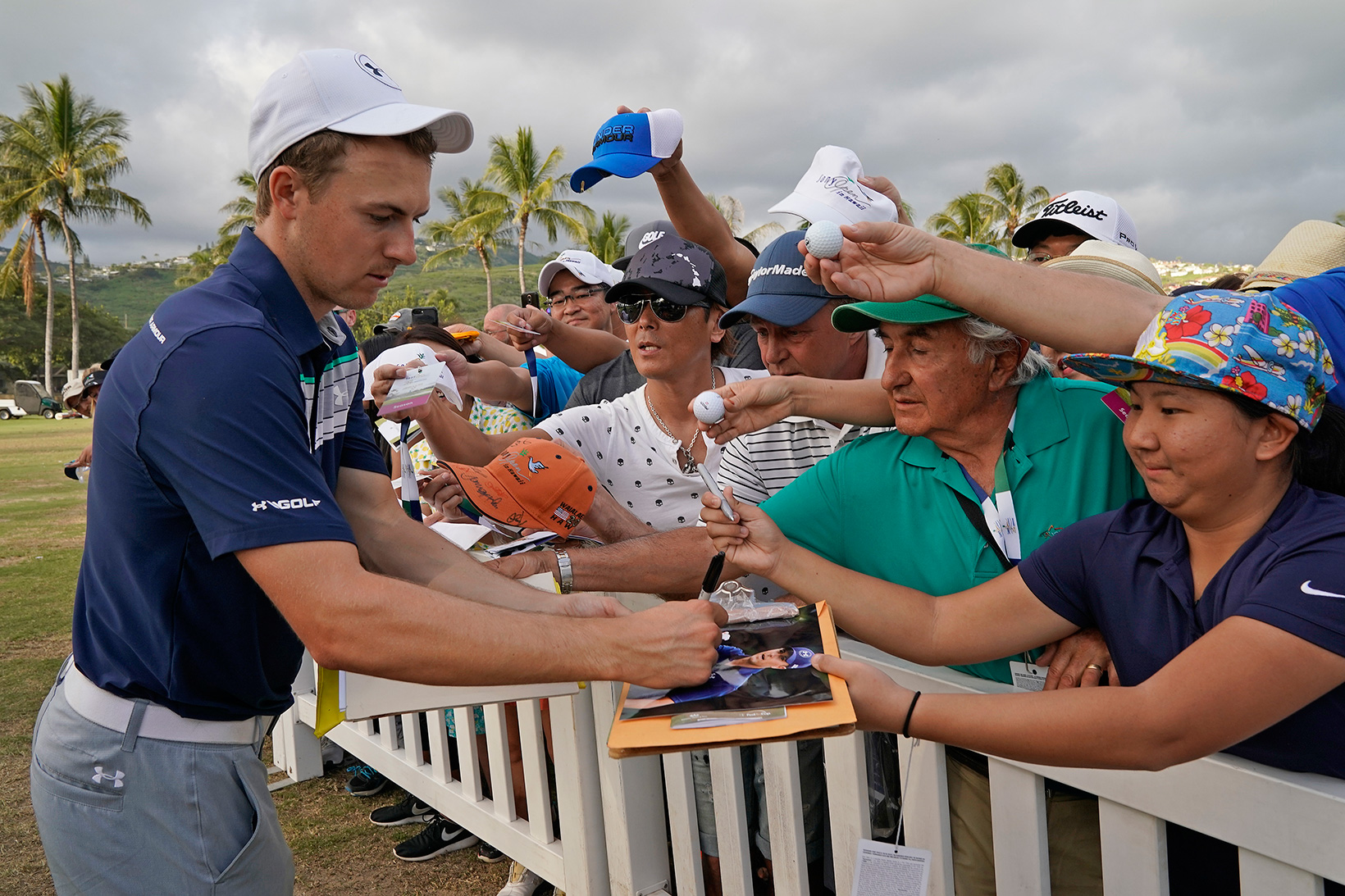 2018 Sony Open: Round 3 - Signing Autographs During the Third Round