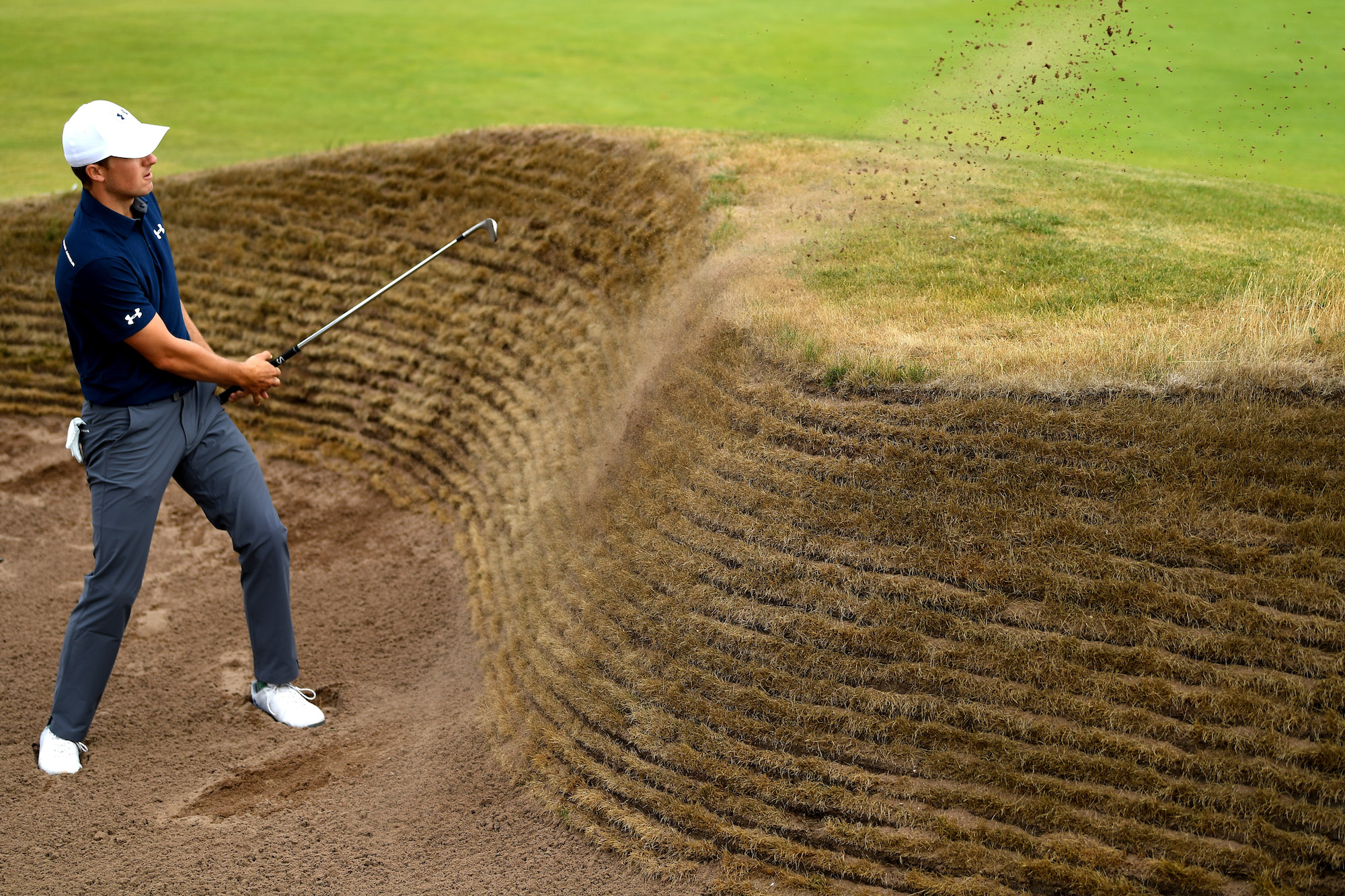2018 Open Championship: Previews - Hitting out of the Bunker at the 14th Green