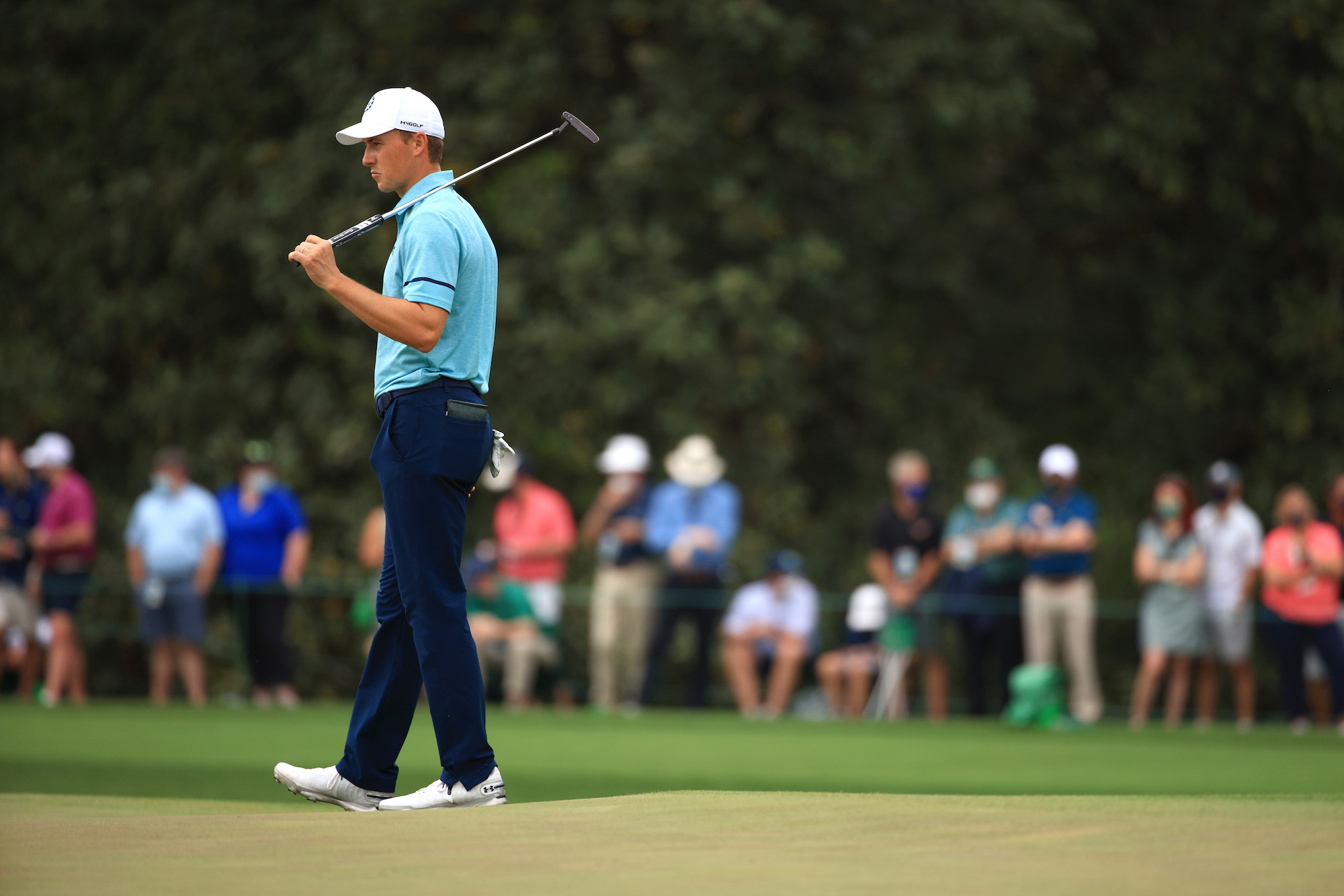 2021 Masters Tournament: Round 2 - On the 13th Gr
