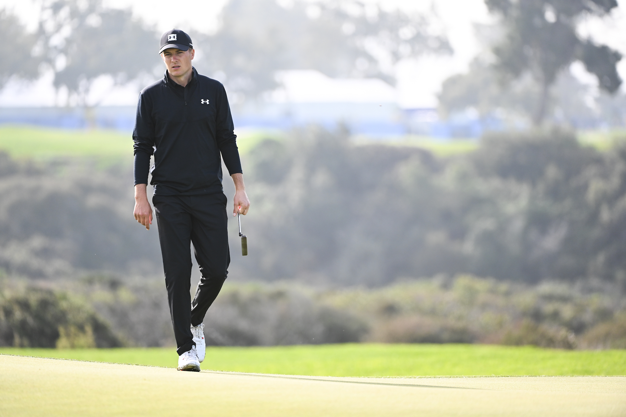 2020 Farmers Insurance Open: Round 2 - Jordan Surveys the Green on No. 13