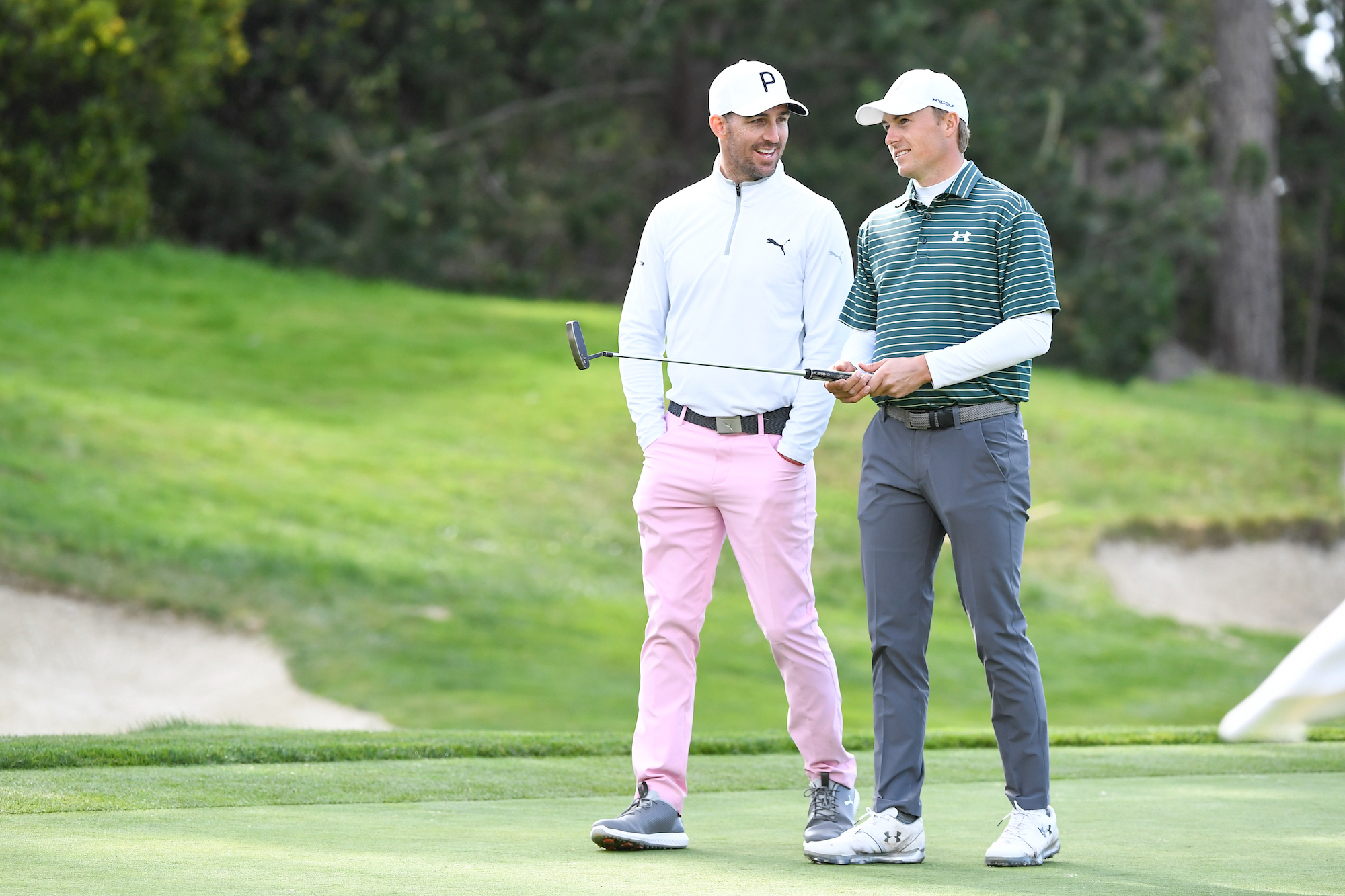 2019 AT&T Pebble Beach Pro-Am: Round 1 - Jordan and Jake Owen Laugh on the 18th Green
