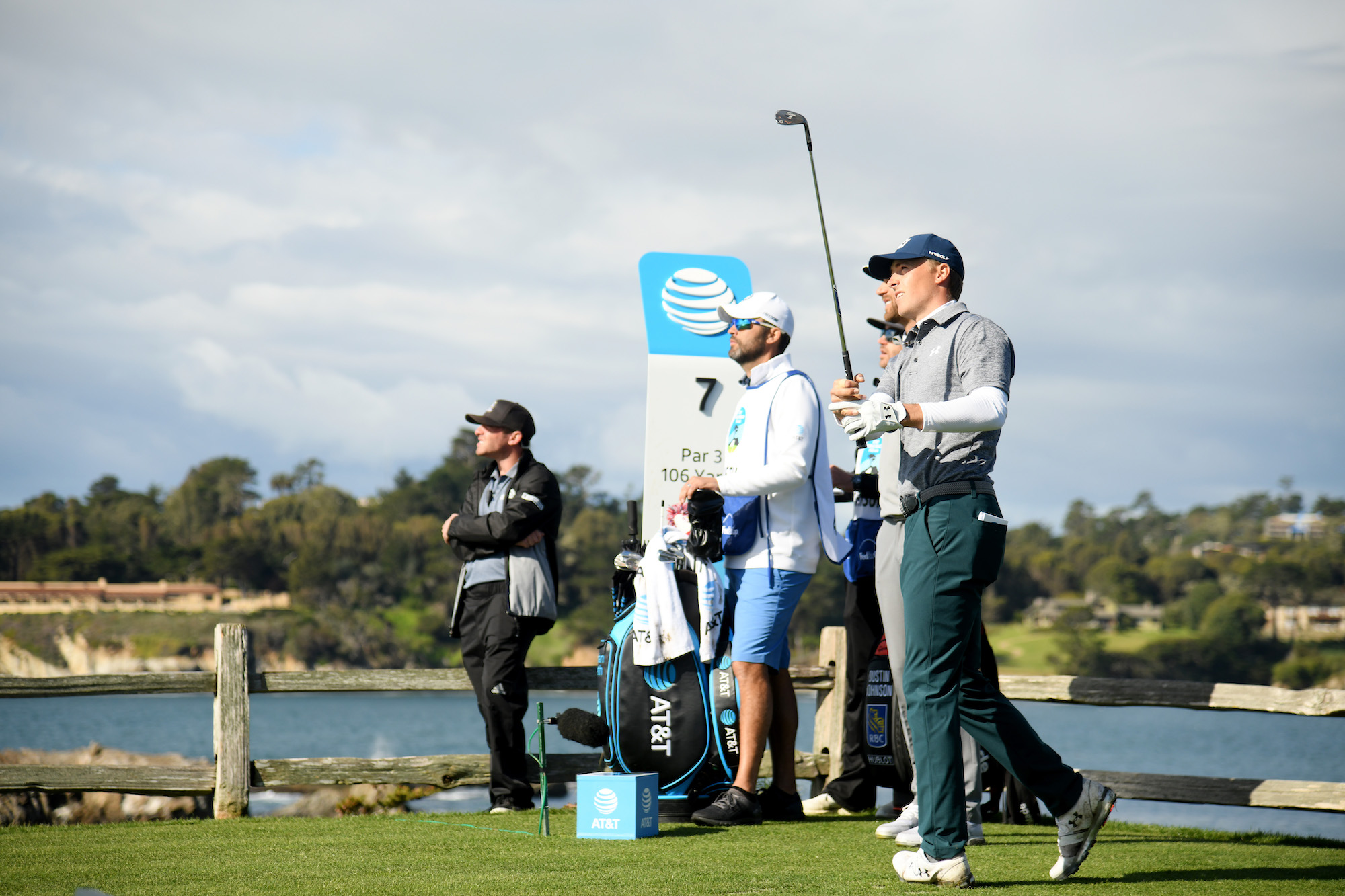 2019 AT&T Pebble Beach Pro-Am: Round 3 - Tee Shot on Par-3 No. 7