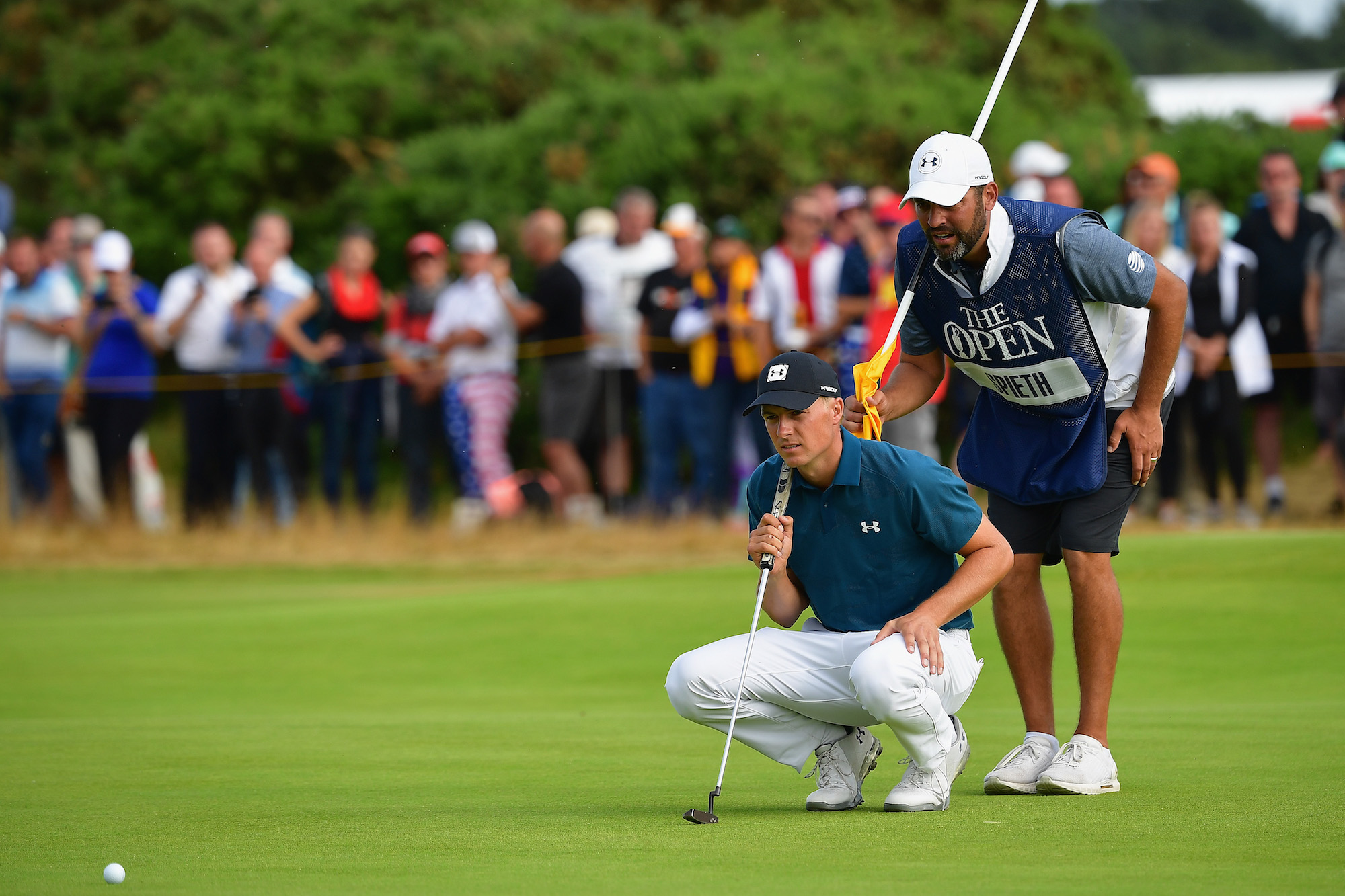2018 Open Championship: Round 3 - Lining Up a Birdie Putt on No. 11
