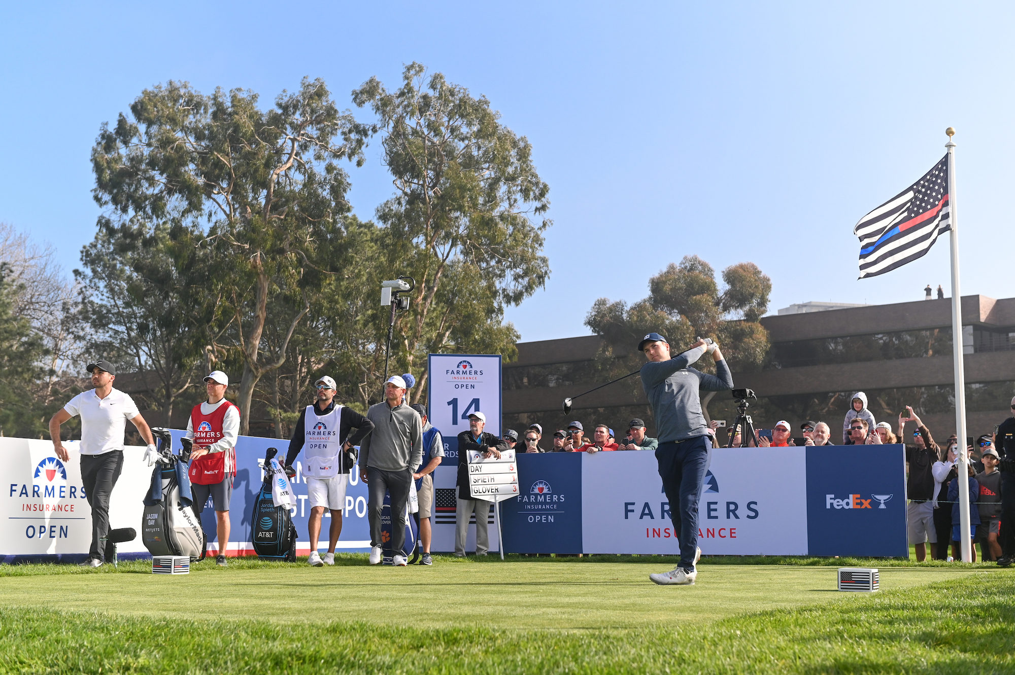 2020 Farmers Insurance Open: Round 3 - Tee Shot on No. 14