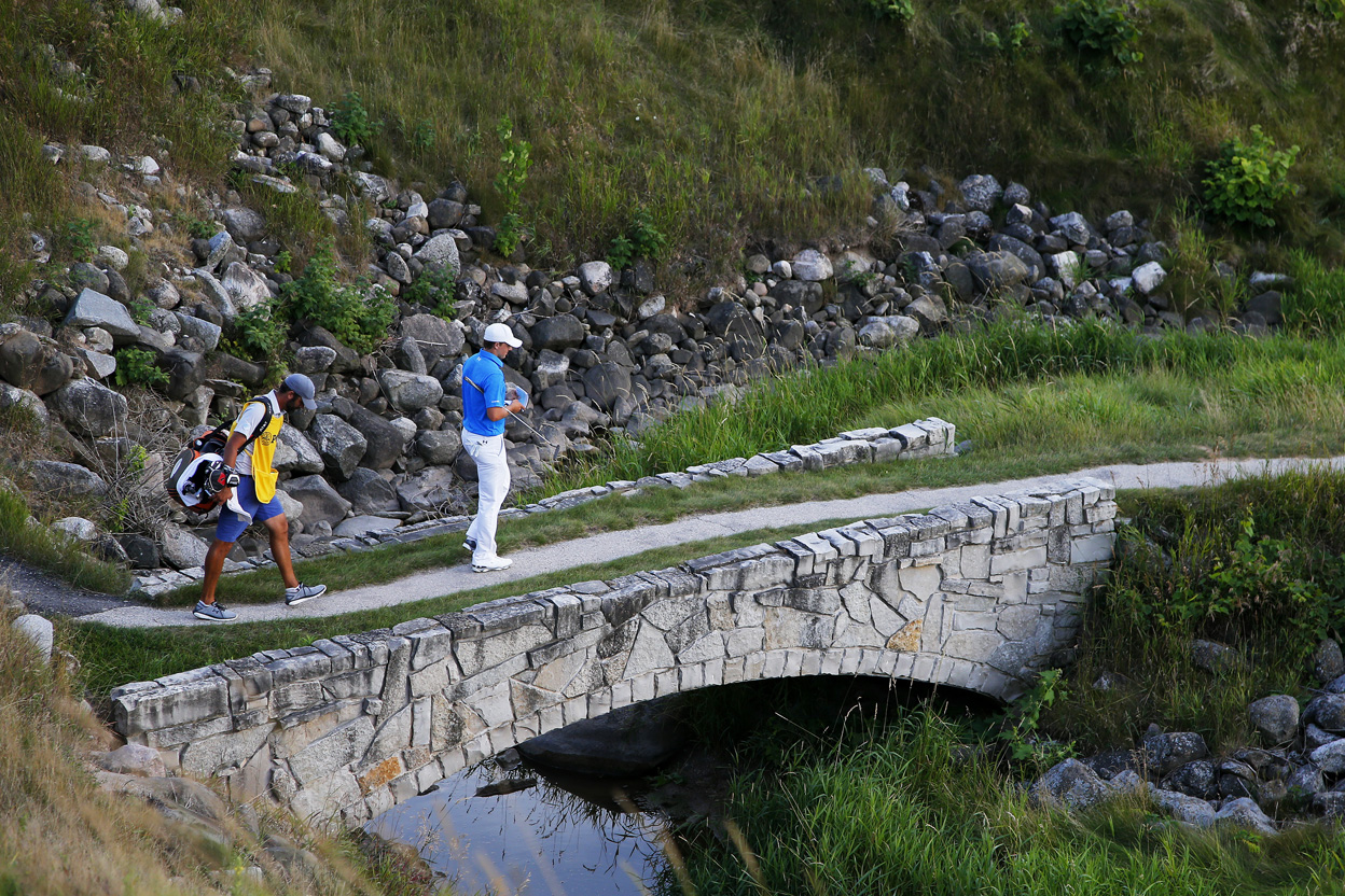 PGA Championship: Jordan Crosses Bridge at the End of Round 1