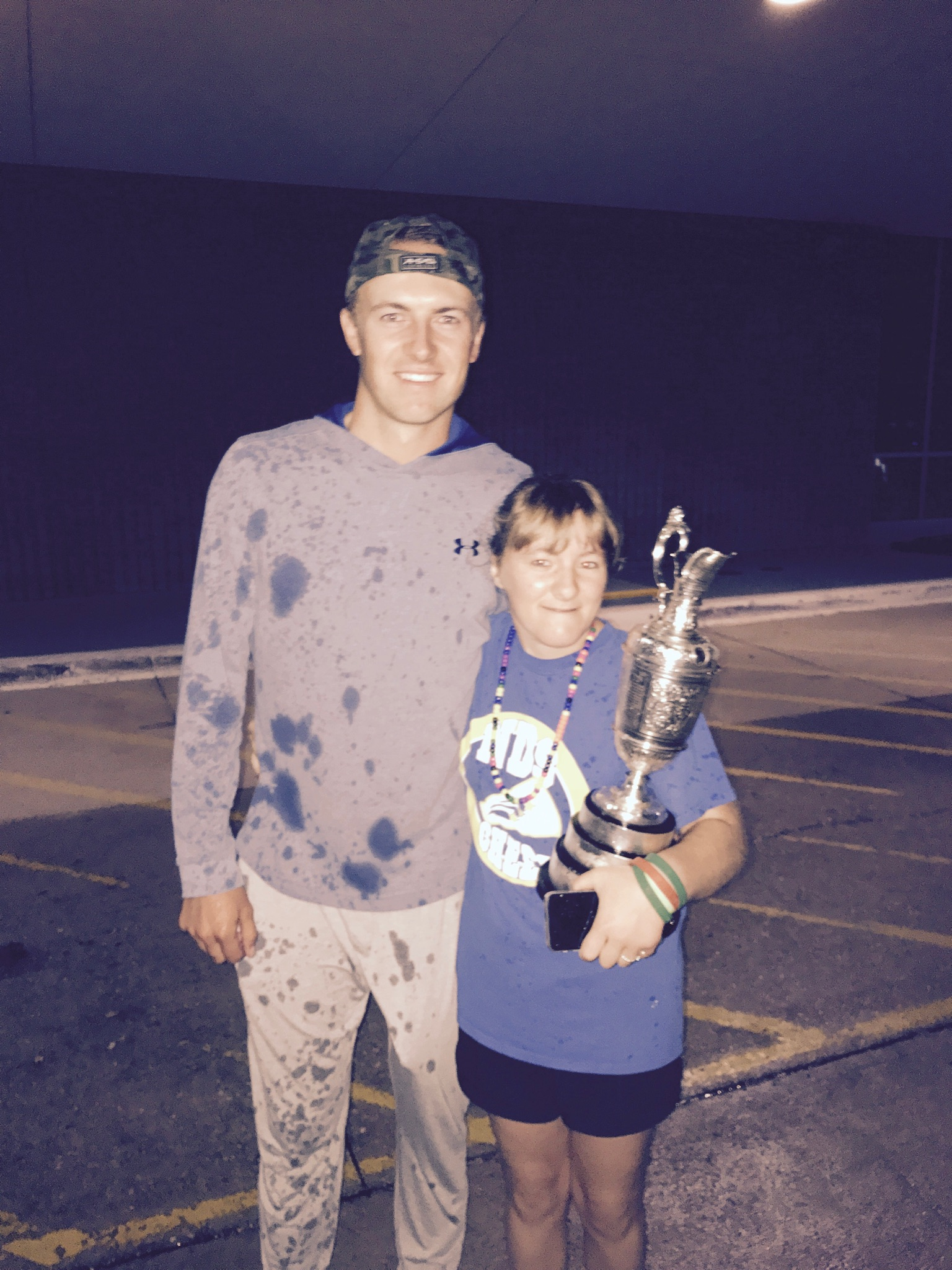 2017 Open Championship: Family Celebration - Jordan and Ellie