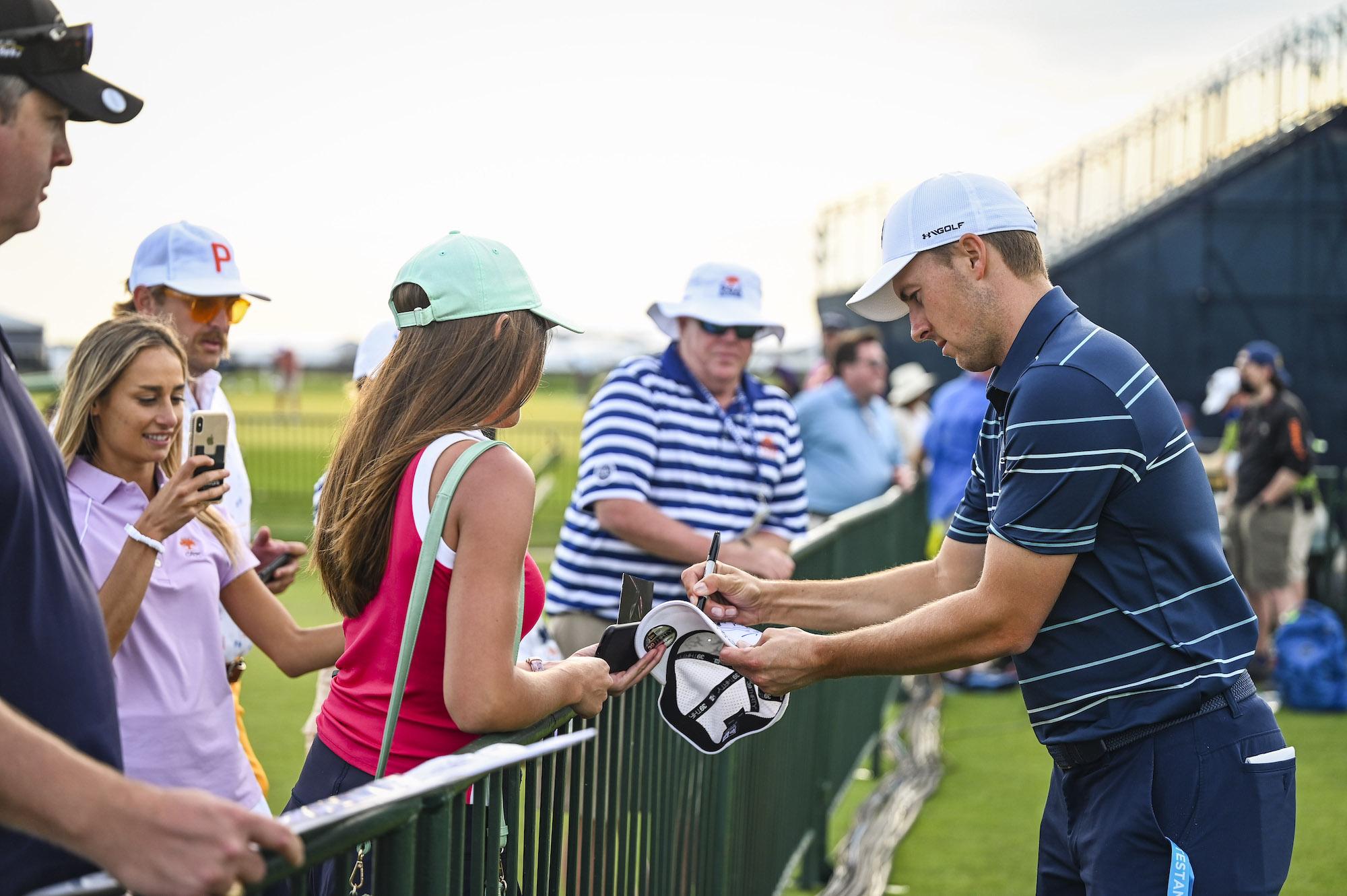 2021 PGA Championship: Preview Day 1 - Jordan Signs Autographs for Fans