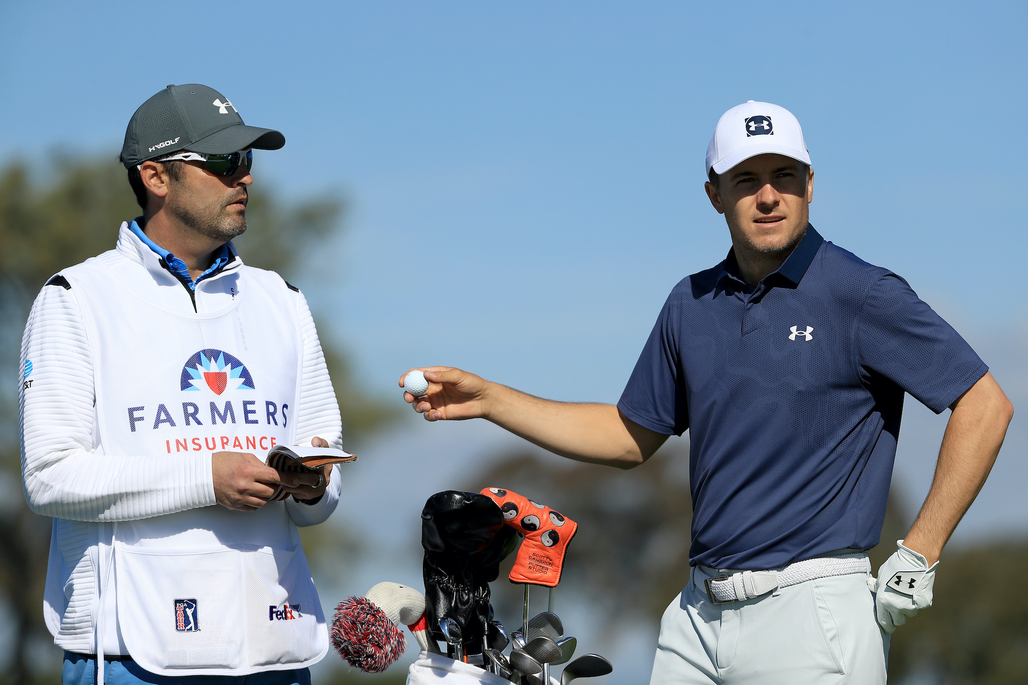 2020 Farmers Insurance Open: Pro-Am - Jordan and Michael During the Pro-Am