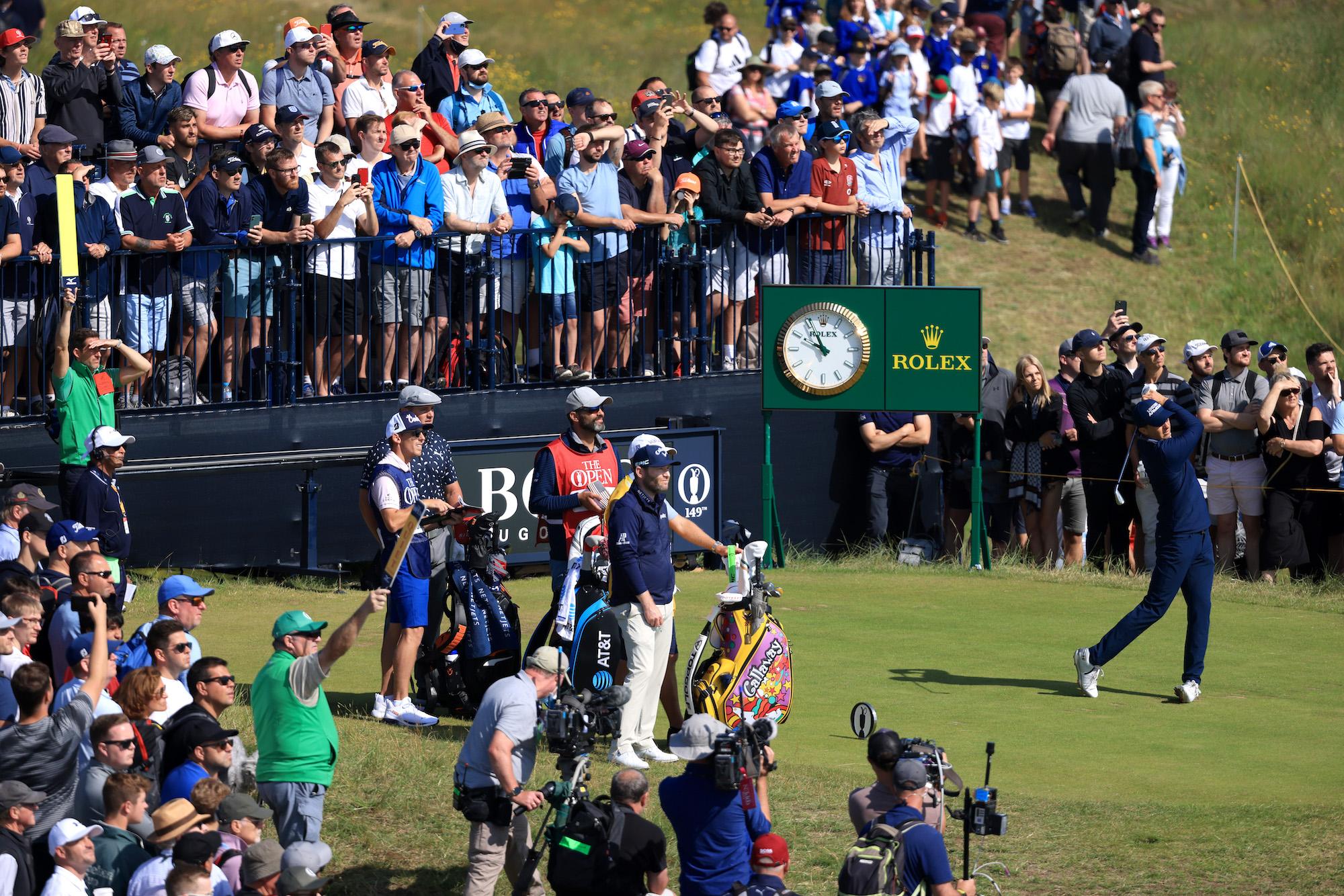 2021 Open Championship: Round 1 - Tee Shot on First Tee Box