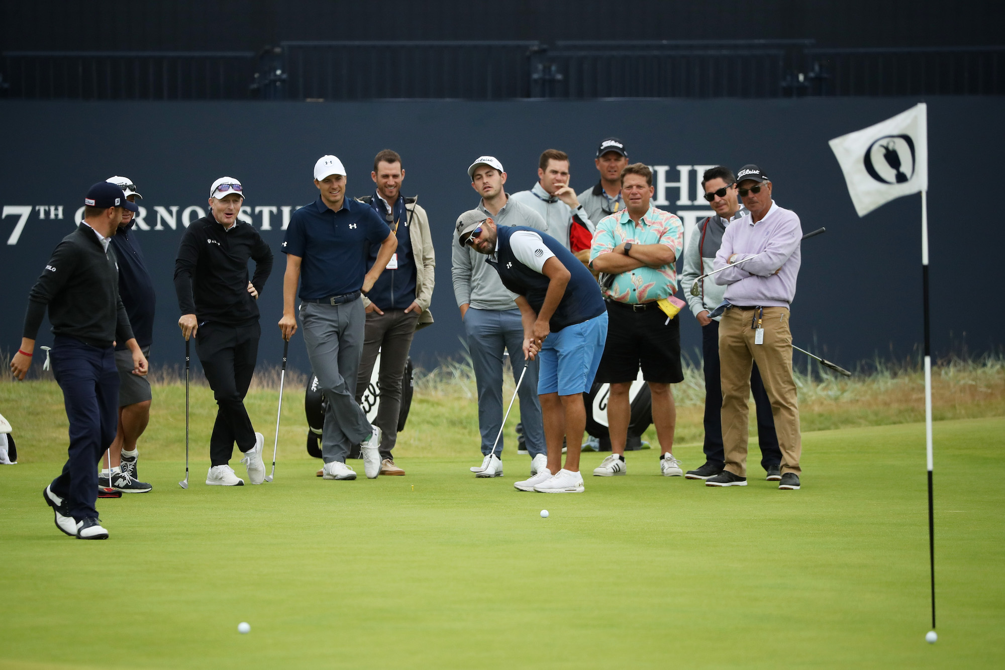 2018 Open Championship: Previews - Michael Greller Attempts a Putt During the Practice Round