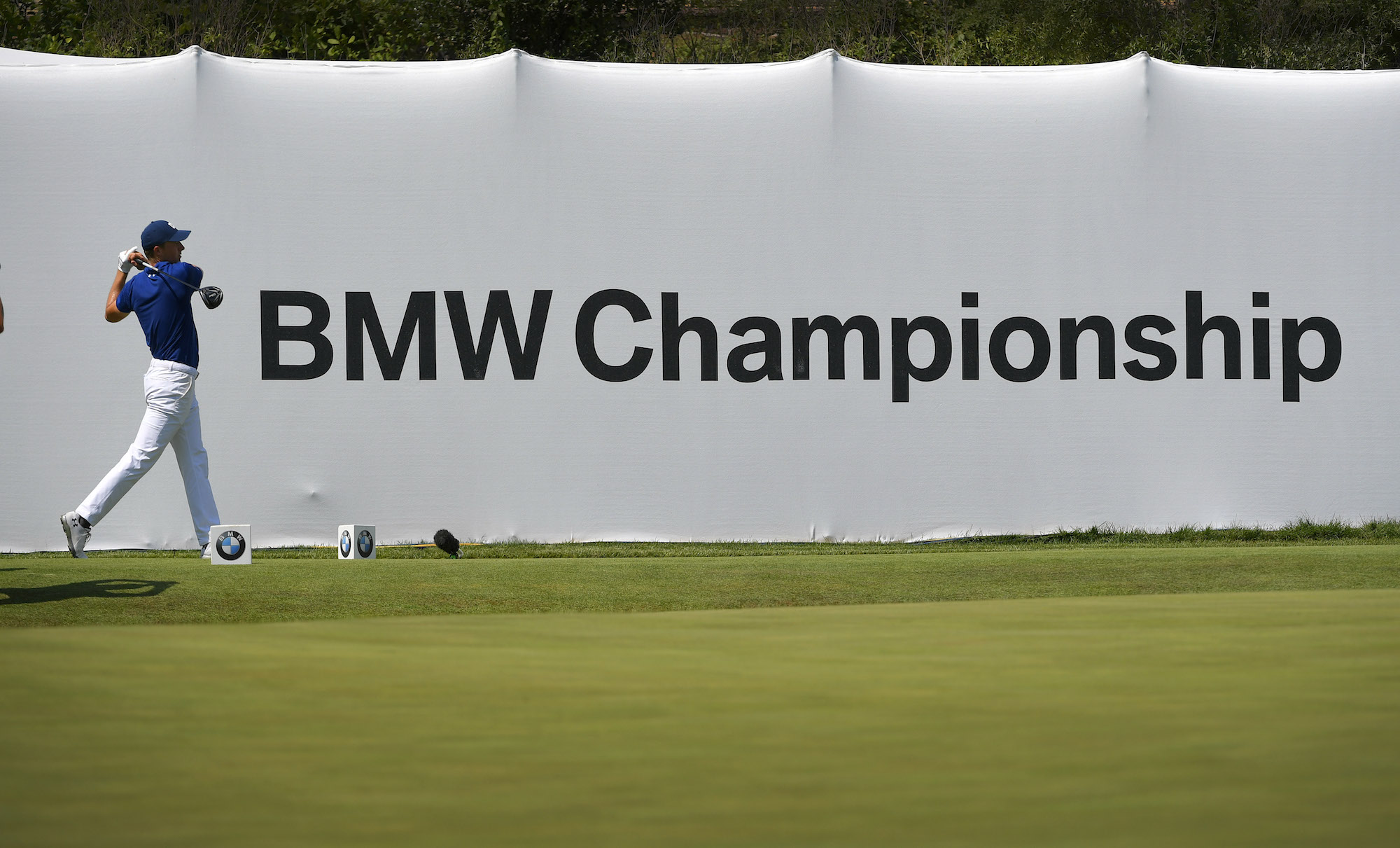 2018 BMW Championship: Round 1 - Teeing Off on No. 18