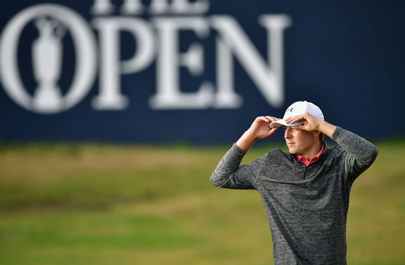 2017 Open Championship: Round 3 - Jordan on the 18th Green