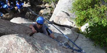 Rock Climbing at the Knights of Heroes Camp