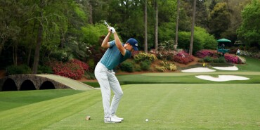2021 Masters Tournament: Round 1 - Tee Shot on No. 12