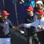 2018 Ryder Cup: Sunday Singles - Jordan Fist Bumps WIth David Duval