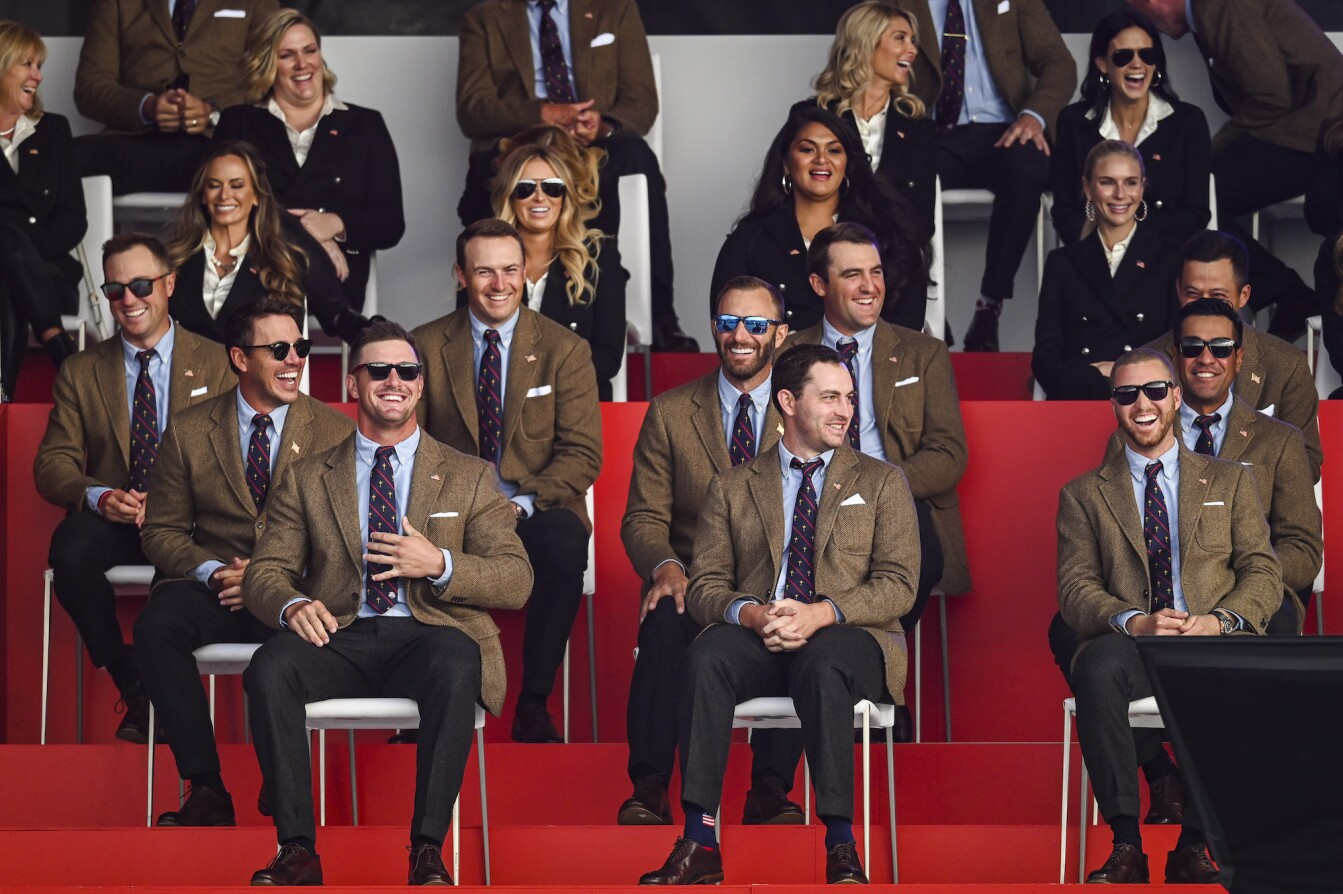 2021 Ryder Cup: Preview Day 3 - U.S. Team Members Smile During the Opening Ceremony