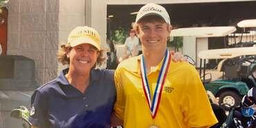 Cathy Marino and Jordan Spieth