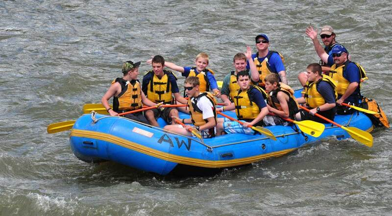 Rafting at the Knights of Heroes Camp
