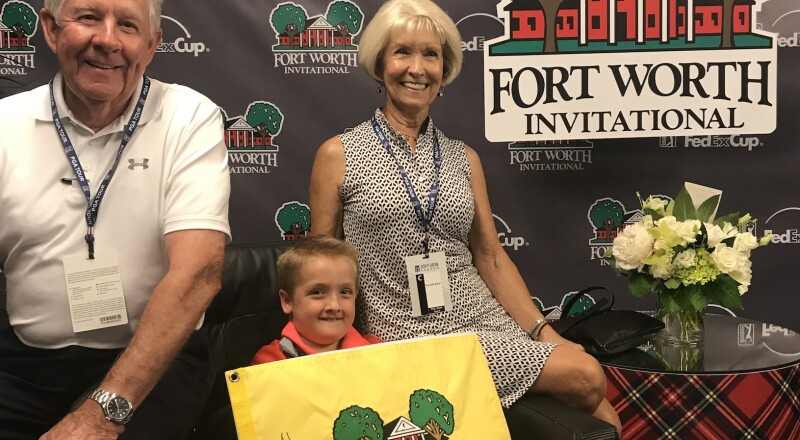 2018 Fort Worth Invitational: Tommy and Joy Eubank With Their Grandson Eliot Walser