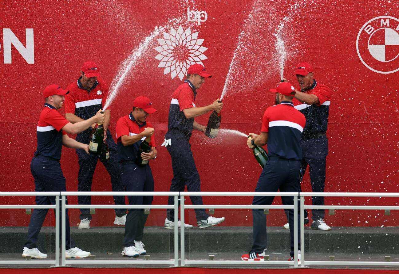 2021 Ryder Cup:  Champagne Celebrati