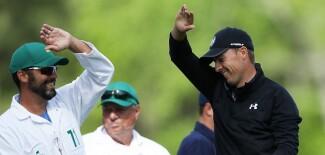 2018 Masters Tournament: Final Round - Celebrating on No. 12
