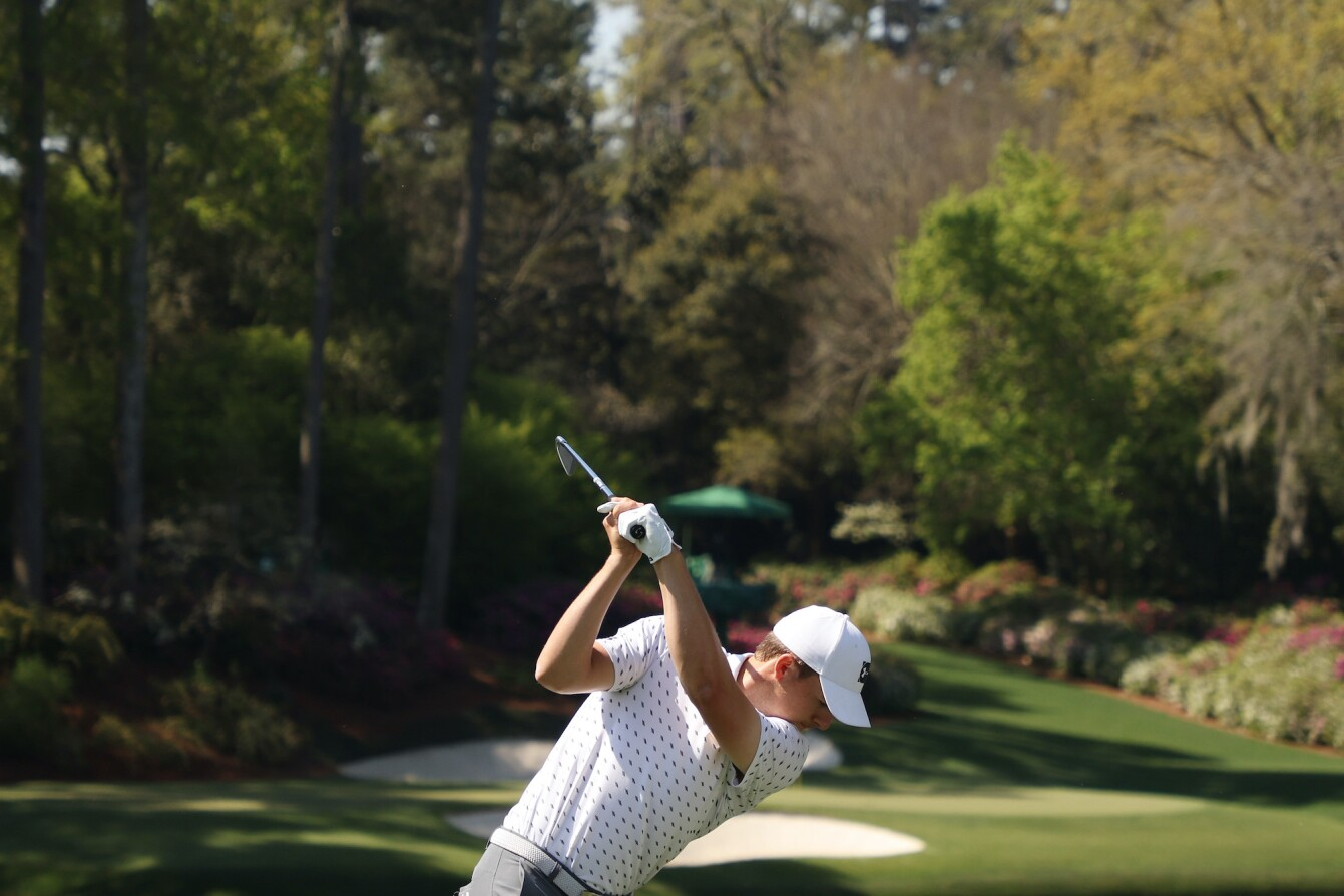 2021 Masters Tournament: Preview Day 2 - Tee Shot on No. 12