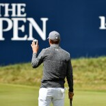 2017 Open Championship: Round 1 - Jordan Waves to Crowd