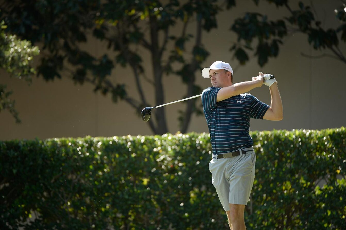 The Host Tees Off at the Spieth Shootout