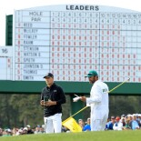 2018 Masters Tournament: Final Round -Leaderboard on No. 17