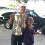 Jordan, Ellie and the U.S. Open Championship Trophy