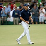 2018 Masters Tournament: Round 1 - Reaction After Birdie on No. 16