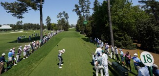 2021 Masters Tournament: Preview Day 2 - Tee Shot on the 18th
