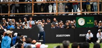 2019 ZOZO CHAMPIONSHIP: Round 1 - Teeing Off on No. 18