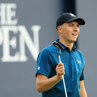 2018 Open Championship: Round 3 - Acknowledging the Crowd on 18 After a 6-Under Round of 65