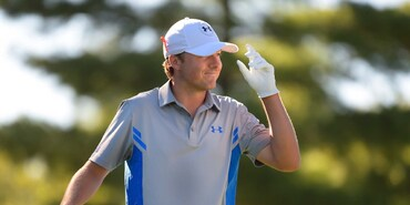 Jordan Spieth during round 1 of the 2014 Deutsche Bank Championship