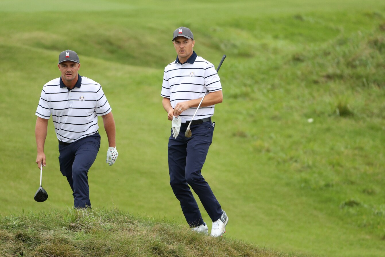 2021 Ryder Cup: Previews - Jordan and Bryson DeChambeau During First Practice Round