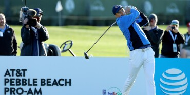 2018 AT&T Pebble Beach Pro-Am: Final Round - Tee Shot on No. 3