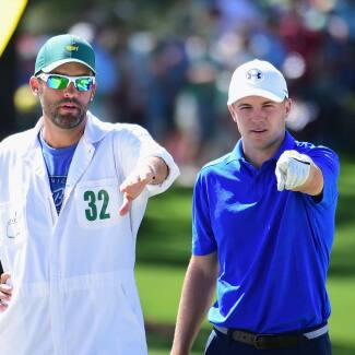 2017 Masters Tournament: Final Round - Jordan and Michael on the No. 7 Green