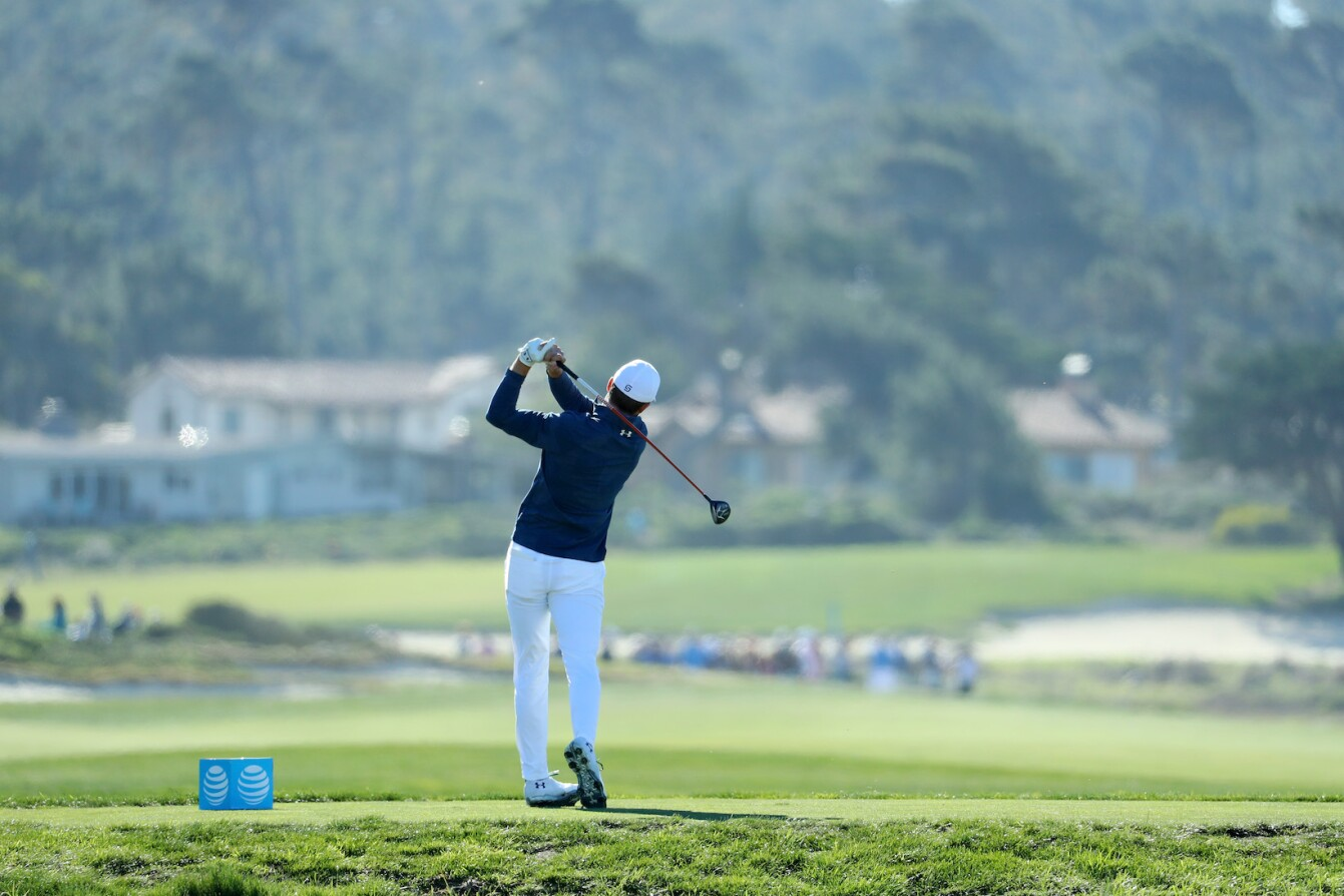 2018 AT&T Pebble Beach Pro-Am: Round 2 - Tee Shot on No. 12