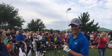 Jordan Spieth at the HP Byron Nelson Junior Golf Clinic