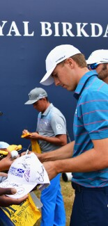 2017 Open Championship: Preview Day 3 - Jordan Meets with Young Fans