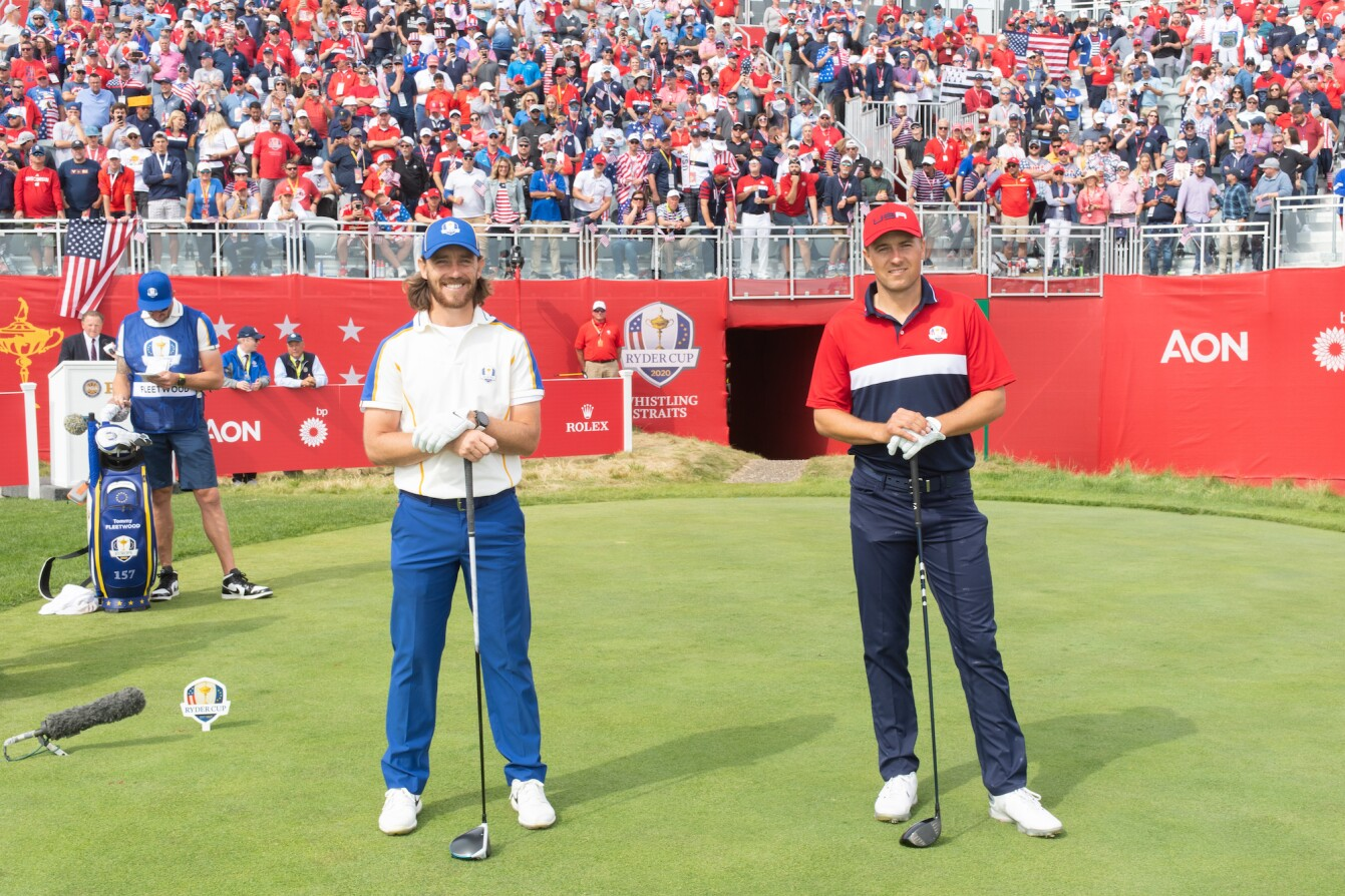2021 Ryder Cup: Day 3 - Jordan and Tommy Fleetwood Before Their Singles Match