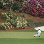 2021 Masters Tournament: Round 3 - Lining Up a Putt on No. 13