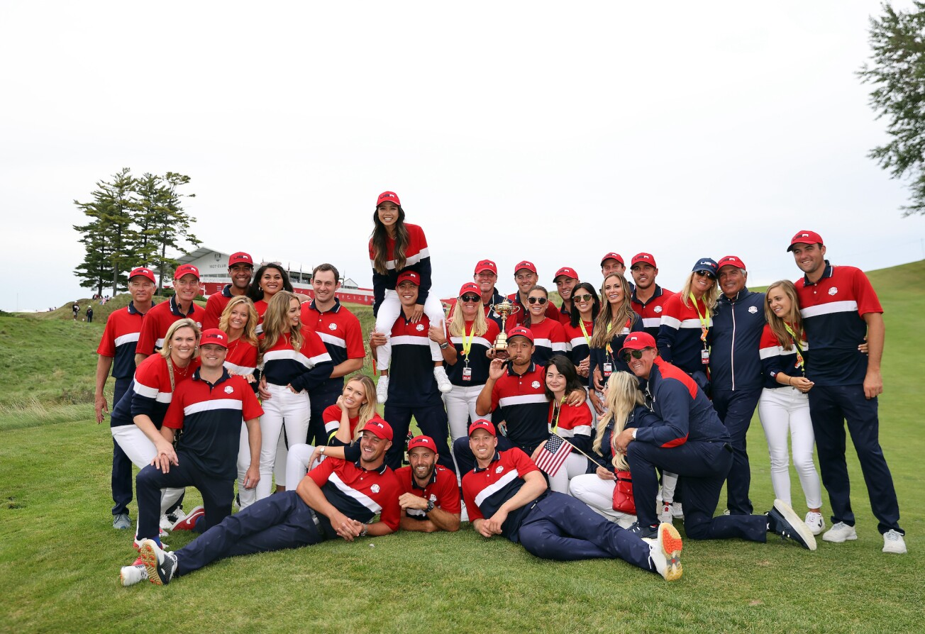 2021 Ryder Cup:  The Players and Coaches With Their Partners