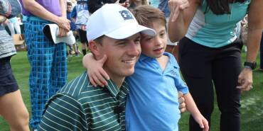 Jordan at the Tesori Family Foundation All-Star Kids Golf Clinic