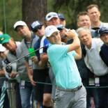 2018 Masters Tournament: Preview Day 3 - Jordan Plays His Shot From the 15th Tee