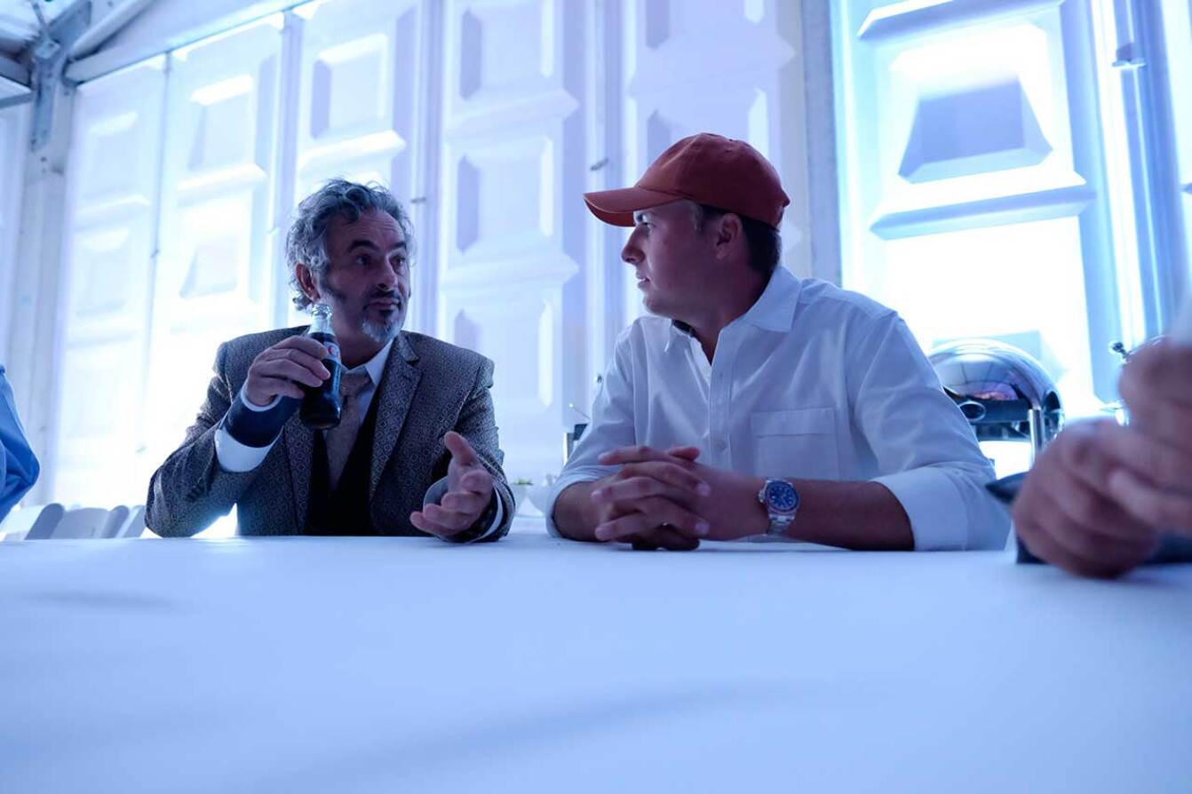 Jordan and David Feherty at the Charity Concert - 2015 Spieth Shootout